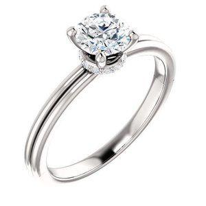 1.66 carat Round brilliant diamonds engagement rin